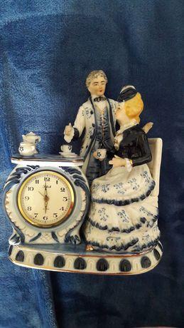 Relógio porcelana vintage victoriano