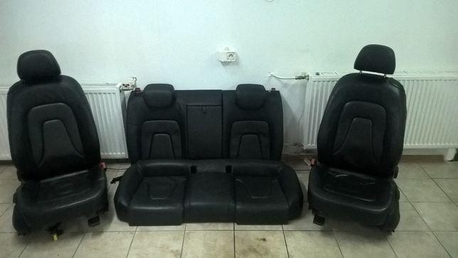 AUDI A5 8T0 Coupe Skóra Tapicerka Skórzana czarna Europa CZĘSCI