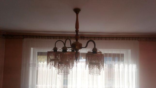 Lampa sufitowa - żyrandol z koralikami