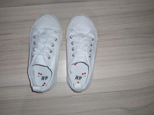 Trampki białe H&M 27 wkładka 17 cm