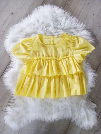 Żółta bluzka z falbanami S Calliope