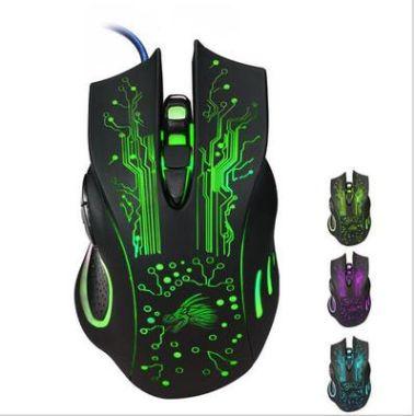 Игровая проводная мышь мышка 6 кнопок с подсветкой (новая)
