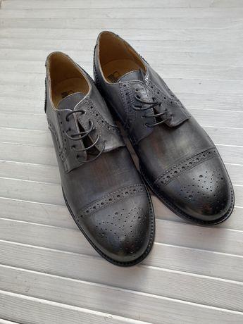 Новые мужские туфли. Классика. Италия. Кожа.