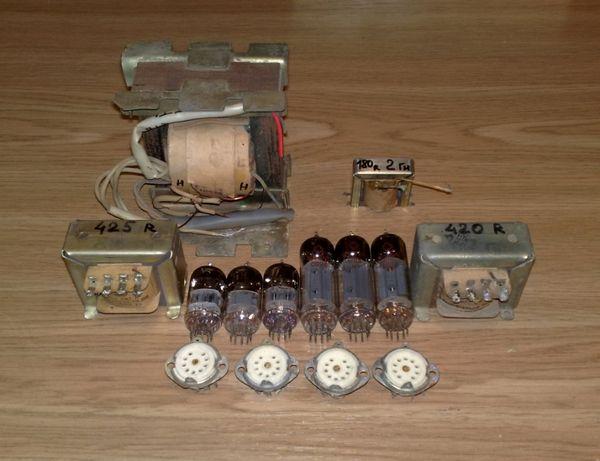 Набор для сборки 6Н2П 6П43П-Е однотактный ТВЗ-1-9, усилитель ламповый