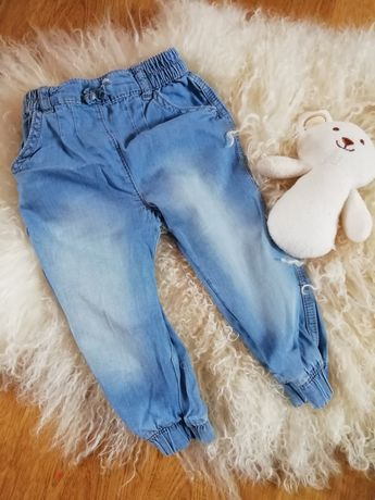 Spodnie jeansowe przecierane