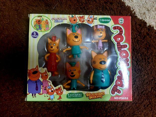 Три кота, игра, герои мультика, семья три кота, набор из 5 шт