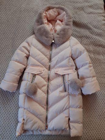 Пуховик Зима на дівчинку 3-5 років