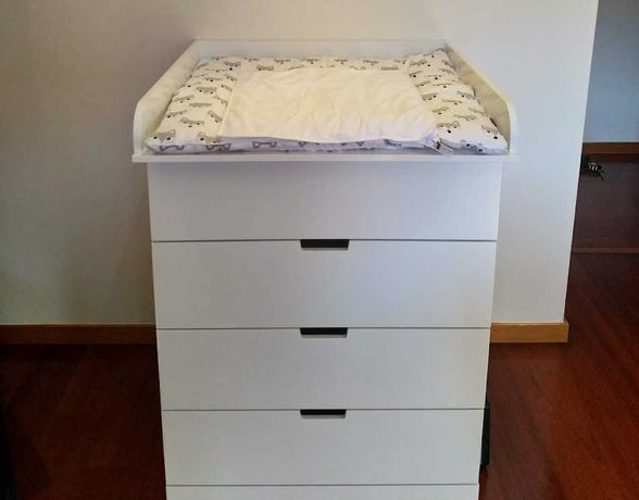 Unidade de muda fraldas para comoda IKEA Nordli