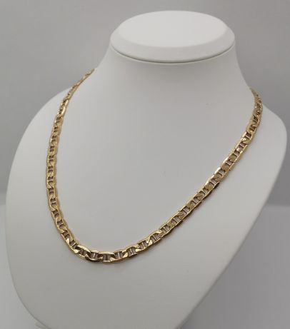 Piękny złoty łańcuch, Splot Gucci. Nowy, Pr. 585/14k. Dł. 55,5cm