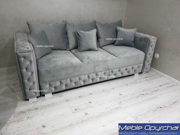 PRODUCENT sofa glamour funkcja spania kryształy NR.105