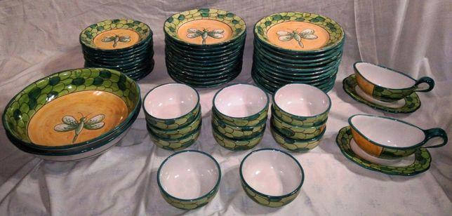 Parte Serviço Jantar Cerâmica Solimene Vietri 5