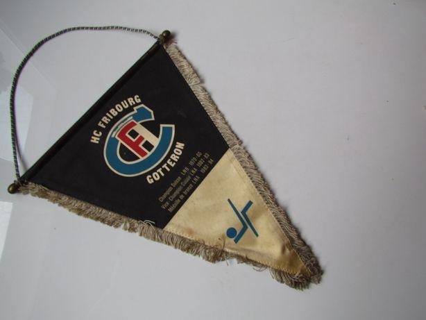Proporczyk Hokej Szwajcaria Fryburg Klub Fribourg-Gottéron Herb duży