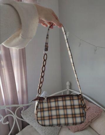 Nowa torebka, torebeczka w kratkę, kratę!