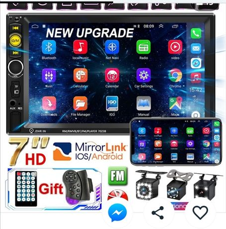 Radio   Novo Pro 2 Din 7 '' HD 1080P Touch Screen Autora