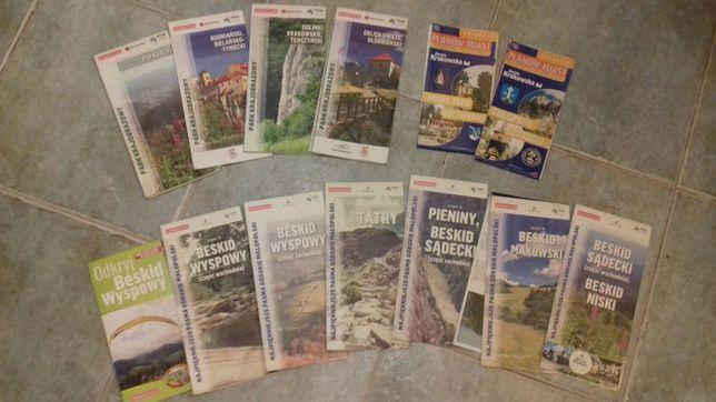 Mapy Park Krajobrazowy,Najpiękniejsze szlaki gorskie Malopolski 11 map