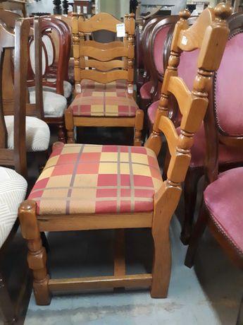 Krzesła komplet krzeseł 4 szt drewniane dębowe masywne DOWÓZ