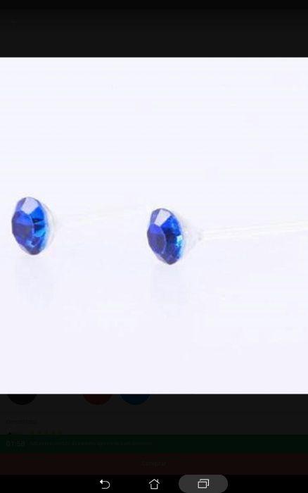 Brincos azuis e brilhantes Moledo E Cristelo - imagem 1
