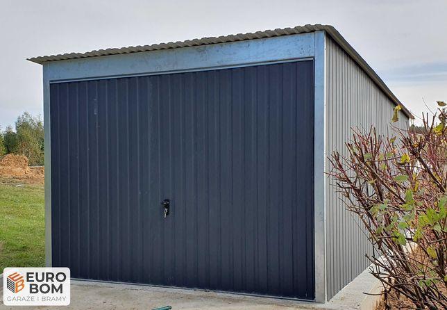 Garaż blaszany z klamką, profil zamknięty, garaż na samochód, solidny,