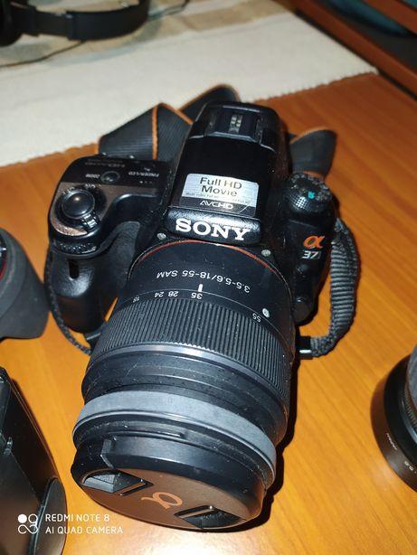 Sony Alpha a37 + lentes e acessórios