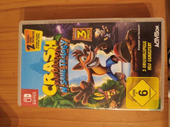 Crash Bandicoot N sane trilogy gra Nintendo Switch wersja fizyczna Kostrzyn nad Odrą - image 1