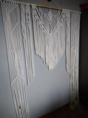 Makrama ślubna ścianka boho sesja