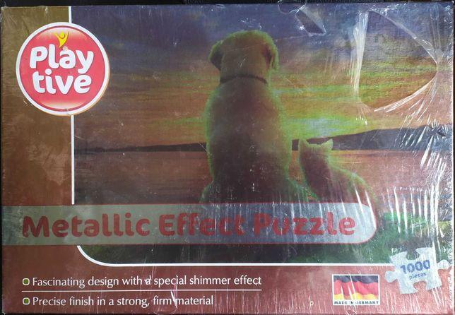 Sprzedam puzzle 1000 Playtive metalizowane