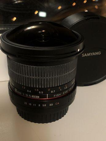 Продам объектив Samyang 8mm 1:35