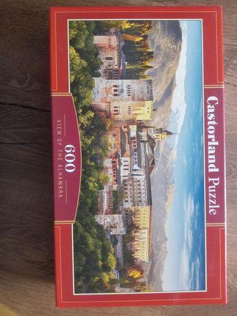 Puzzle 600 elementów Castorland widok na Alhambrę