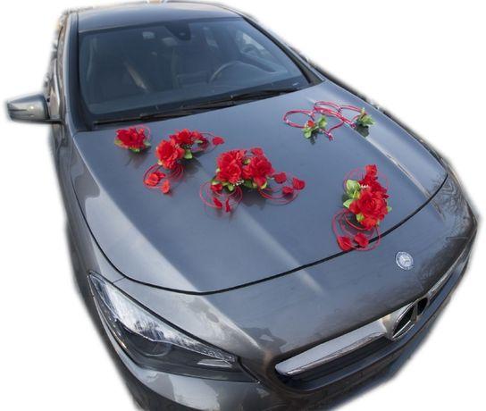 Dekoracja samochodu ozdoba na auto do ślubu NR.62 DOWOLNY KOLOR