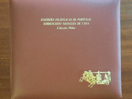 Álbum sobrescritos medalhas 1 dia philae 1985