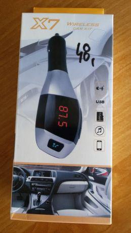 Transmiter Bluetooth mp3 +ładowarka 2.1A