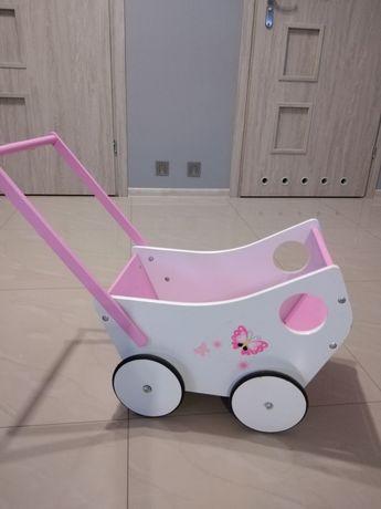 Wózek-Pchacz drewniany dla lalek.