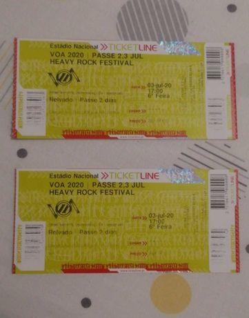 Bilhetes festival VOA 2 pelo preço de 1