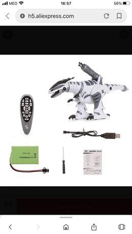 Robot dinossauro inteligente com controlo remoto impecável