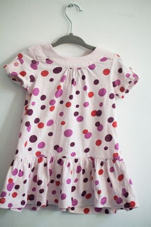 letnia sukienka united colors of benetton, rozm. 74