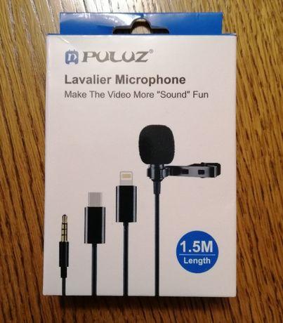 Микрофон проводной конденсаторный PULUZ (PU424) 1,5м 3,5мм