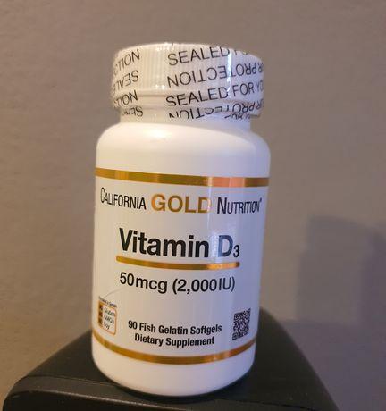 Витамин D3, 50мкг (2000МЕ), California Gold, 90 шт