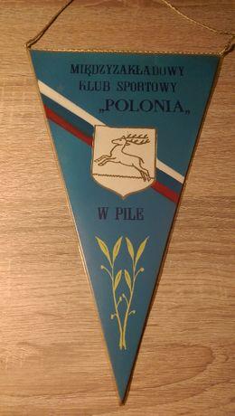 Proporczyk Międzyzakładowego Klubu Sportowego Polonia Piła PRL