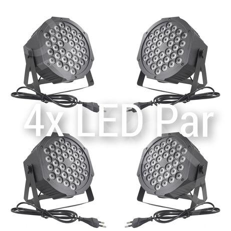 4x Nowy KOLOROFON DISCO mini PAR 36 LED X 3W sylwester 2020/2021 impra