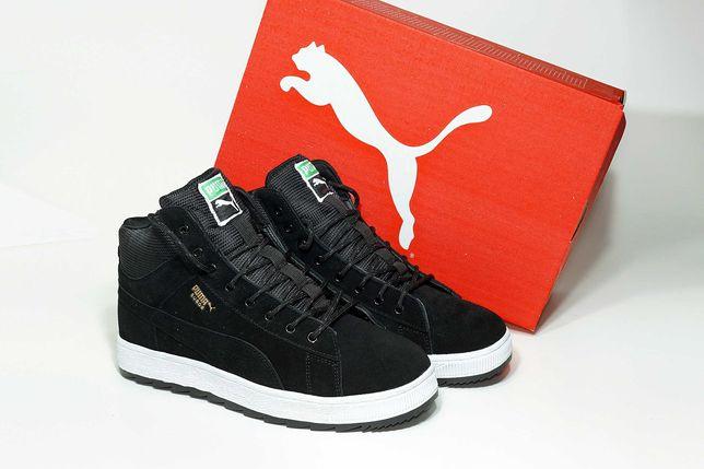 (515) ЗИМА Кроссовки Puma Suede High (42, 43) - мех, ботинки, пума