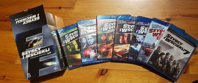 Szybcy i wściekli 1-7 Blu-Ray nowe folia