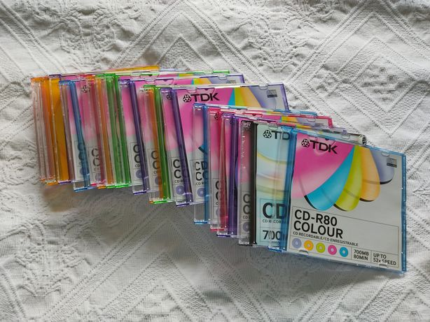Cds Virgens CD-R e caixas slim/finas (cd/dvd)