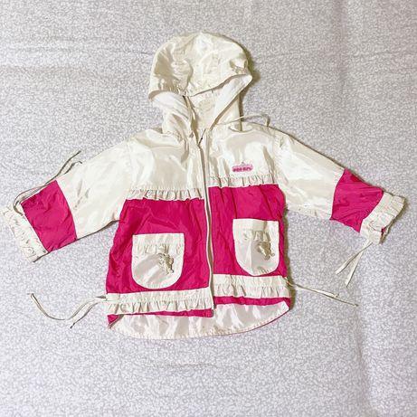 Детская курточка плащ на девочку демисезон