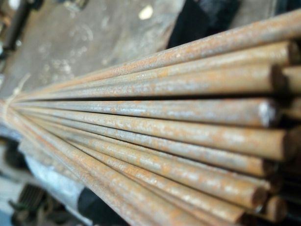 Drut prosty metalowy grubość 4mm/1m dł duza ilosc okazja!!