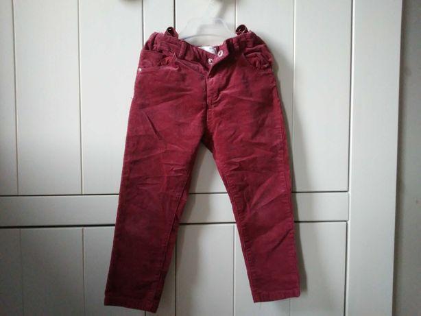 Spodnie sztruksowe dziewczęce Zara