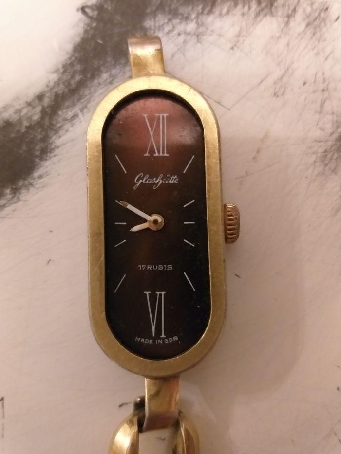 Damski,pozłacany zegarek mechaniczny firmy Glashutte 17 rubis Kępno - image 1