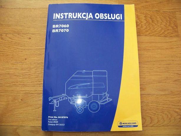 Instrukcja obslugi, prasa new holland BR 7070,BR 750