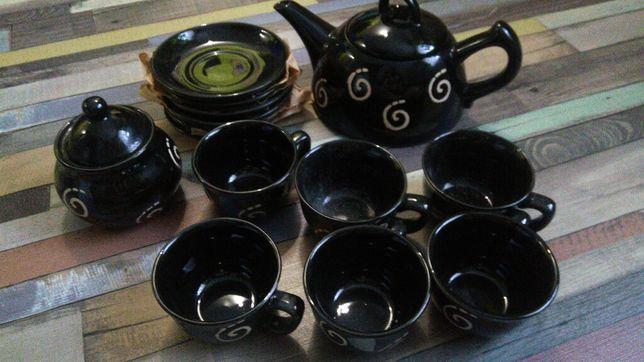Чайный сервиз чёрный