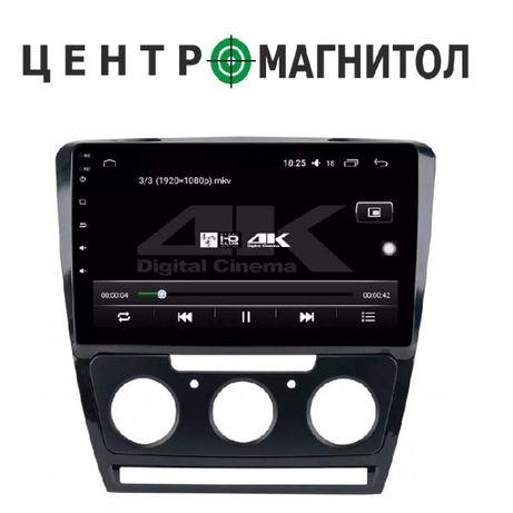 "Штатная магнитола Skoda Octavia A5 9"" android usb gps шкода октавия"