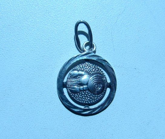 Серебряная подвеска Знак Зодиака Рак 925 проба